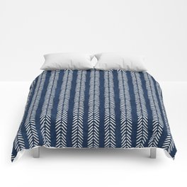 Mud cloth - Navy Arrowheads Comforters