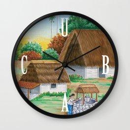 Cuban Scene 1 Wall Clock