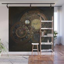 Steampunk Clocks Wall Mural