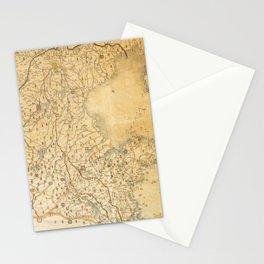Map of Zhili and Shandong, China (c1855-1870) Stationery Cards