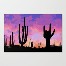 Signs seen in the Desert  Canvas Print