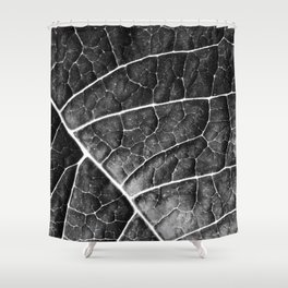 LEAF STRUCTURE no2a BLACK AND WHITE Shower Curtain