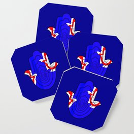 Pop Art Hamsa Hand Coaster