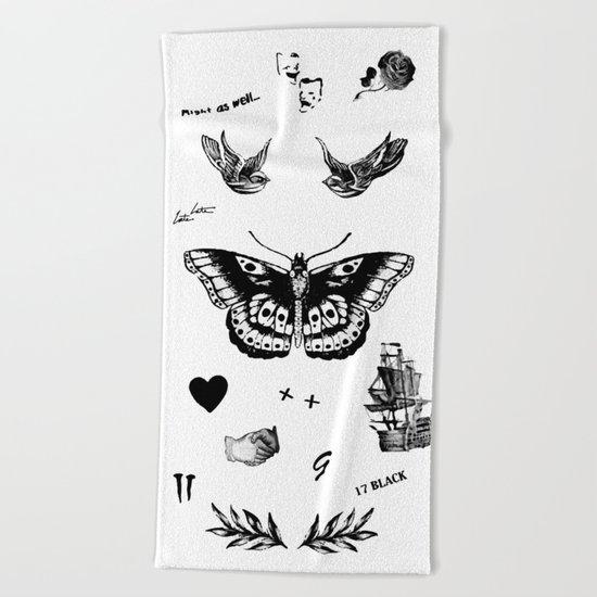 Tattoo à la Harry Beach Towel