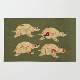 Heroes in a pizza box... Turtle Power! Rug