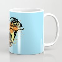 ostrich Mugs featuring Ostrich couple by SilviaGancheva