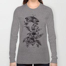 Flower Design Long Sleeve T-shirt