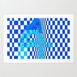 Mod - Blue Art Print