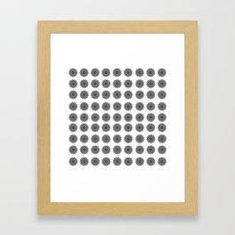 Black and White Mandala | Secret Geometry Framed Art Print