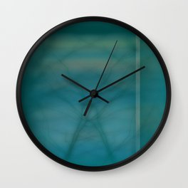 Abstract ~ Twigs at Sunset  Green Wall Clock