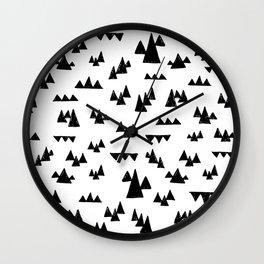 Nordic trees Wall Clock