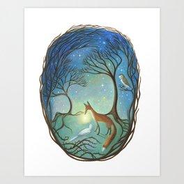 The Light Between Art Print