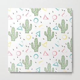 Cacti. Abstract modern узор2 Metal Print