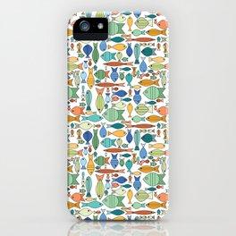 Retro Fish White iPhone Case