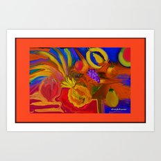 HOW ABOUT SOME JUICY FRUIT  ABSTRACT Art Print