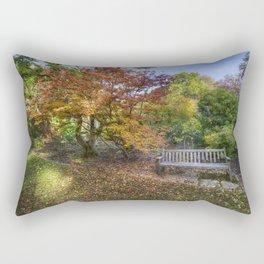 Autumn Bench  Rectangular Pillow