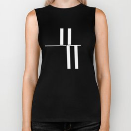 Anxiety Rectangles 1 #minimalism #abstract #geometry #society6 Biker Tank