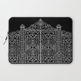 French Wrought Iron Gate | Louis XV Style | Black and Silvery Grey Laptop Sleeve