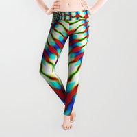 hippie Leggings featuring Hippie Rainbows | Colourful Hippie Love  by Webgrrl