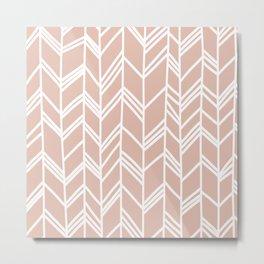 Tribal Arrow Pattern - Blush Background Metal Print