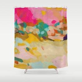 landscape light & pink clouds Shower Curtain