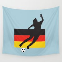 germany Wall Tapestries featuring Germany - WWC by Alrkeaton