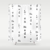 lebron Shower Curtains featuring Had Enough by SaintCastro