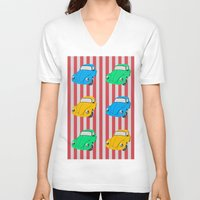 car V-neck T-shirts featuring car by vitamin