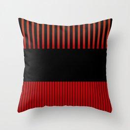 Colour Pop Stripes - Brimstone Throw Pillow