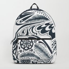 Blue Butterfly Mandala Backpack