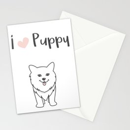 I love puppy Stationery Cards