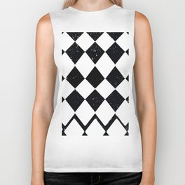 Night Stars and Checkerboards and Harlequins Biker Tank