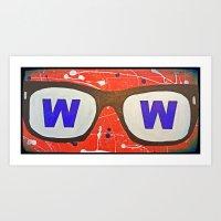 Maddon glasses Art Print