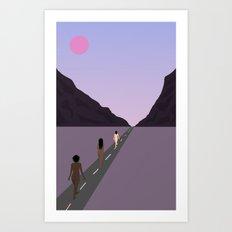 Walk Together Art Print
