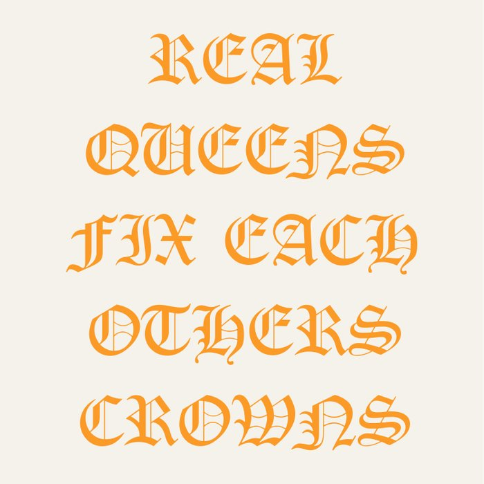 REAL QUEENS FIX EACH OTHERS CROWNS Comforters