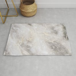 Gray and Gold Marble Rug