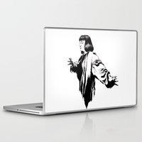 mia wallace Laptop & iPad Skins featuring Mia Wallace by El Kane