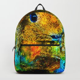 guinea pig couple splatter watercolor Backpack