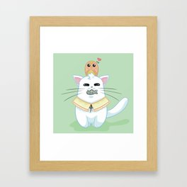Fatty Catty - Hunter kitti Framed Art Print