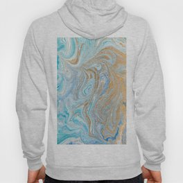 Marble turquoise gold silver Hoody