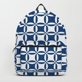 Geometry illusion in blue Backpack
