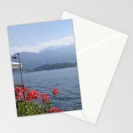 Panoramic view of Lake Como, Italy. Stationery Cards