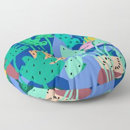 River Plants 1 Floor Pillow