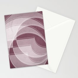 Spacial Orbiting Spiral in Mulberry Stationery Cards