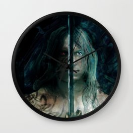 warrior inside Wall Clock