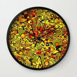 Abstraction. The heat of summer. Wall Clock
