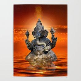 Elephant God Ganesha Poster