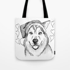 Husky Love Tote Bag