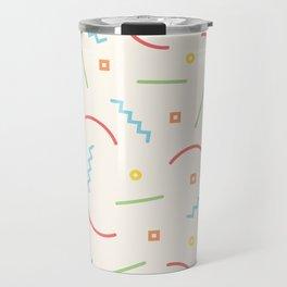 Post Modern Pattern Pastel  Travel Mug