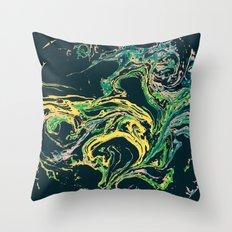 Swirling World V.1 Throw Pillow